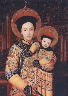 Moeder Gods, Koningin van China, door Chu Kar Kui.