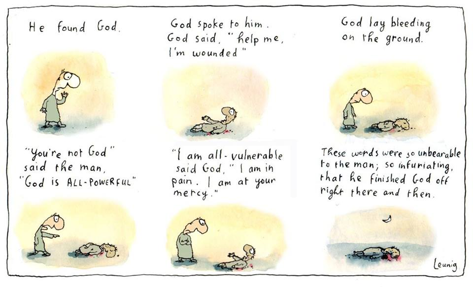 He Found God (cartoon van Michael Leunig)