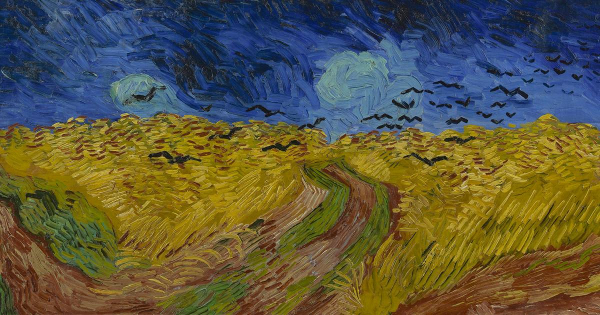 Korenveld met kraaien, Vincent van Gogh, juli 1890