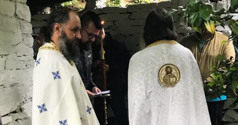 Doop en Chrismatie op Marouda, Athos