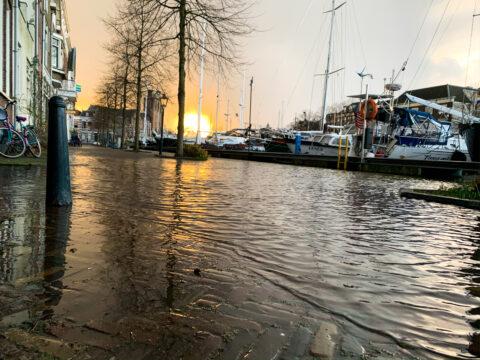 Hoog water Dordrecht