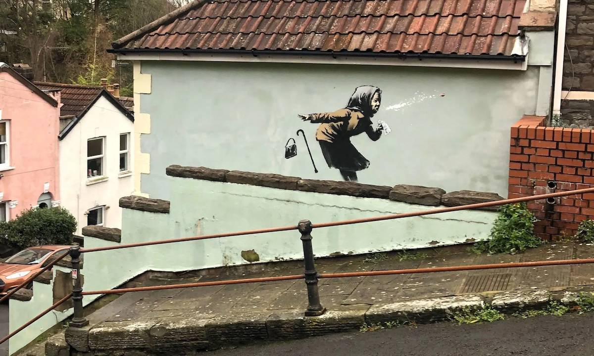 Achooo!! (Bristol kunstwerk Banksy)