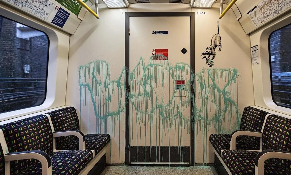 banksy metro Londen
