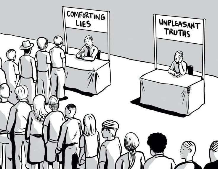 Comforting lies and unpleasant truths